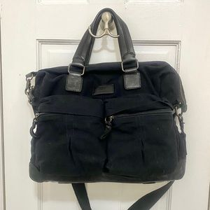 NWOT FRYE Canvas & Leather Scout overnighter bag